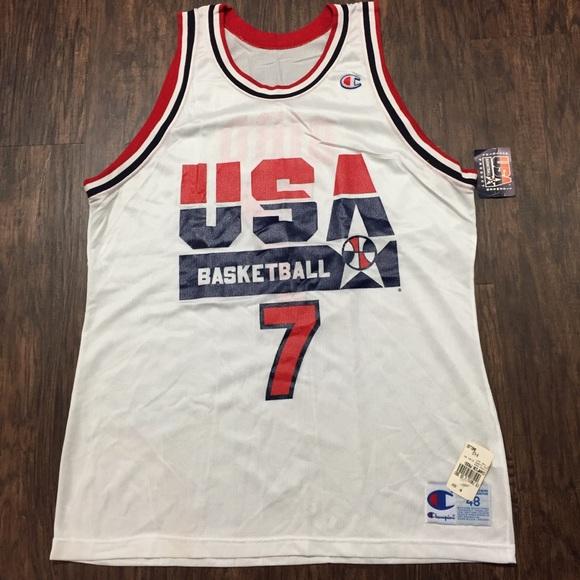 0149015b3ac Champion Shirts | Vintage Larry Bird Dream Team Jersey Nwt | Poshmark